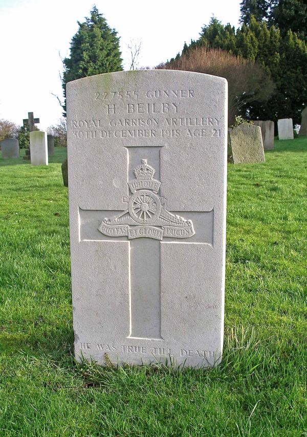 Harry Beilby Headstone
